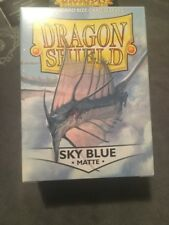 Matte Dragon Shields Standard Size Card Protector Sleeves MTG 100ct Sky Blue box