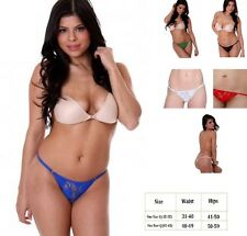 PLUS SIZE LINGERIE ASSORTED COLORS G STRING THONG PANTIE O/S QUEEN 1X 2X