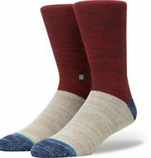 New Men's STANCE Set Of 2 Topstitch Collection Double Cylinder Wool Socks sizeM