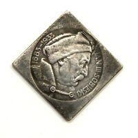 EXONUMIA COIN 10 ZLOTYCH 1933 / JAN III SOBIESKI / POLAND /SILVERED MEMORY TOKEN