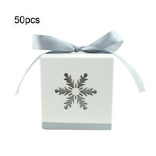 50PCS Hollow Candy Boxes Ribbon Wedding Party Favors Party Shower Gift