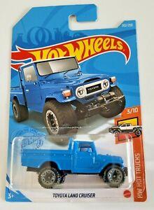 Hot Wheels Toyota Land Cruiser Blue #202 202/250 2021 HW Hot Trucks 3/10