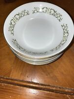 """VIntage Bell Flower Fine China 5 1/2"""" bowls Set of 4 Japan 2999"""