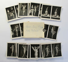 10 ORIG STEREO Photos Nude Photography Series S. 210 to 1920 Erotic Nude Photograph Erotica