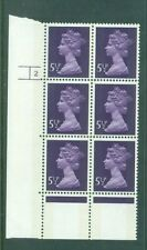 Great Britain 5 1/2p Machin Cylinder 2 Phos No. 17 Block 6 Sg868 Mnh
