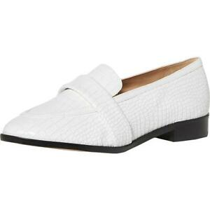 Schutz Womens Romina Leather Slip On Almond Toe Loafers Shoes BHFO 9133