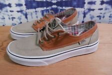 Vintage Vans Classic Brown/Tan Shoes Mens Size 6.5 Casual School Skate Relax