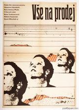 EVERYTHING FOR SALE Fantastic Vintage Movie Poster Fine 70s Andrzej Wajda A3