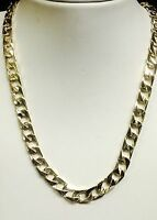 """10kt solid gold handmade Curb Link mens Chain/necklace 26"""" 60 Grams 8 MM"""