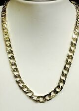 "10kt solid gold handmade Curb Link mens Chain/necklace 20"" 50 Grams 8 MM"
