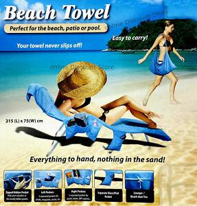 BEACH TOWEL BUDDY BAG SUN LOUNGER MATE HOLIDAY GARDEN LOUNGE SUNLOUNGER MATE