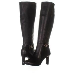 Bandolino Womens Lella Suede Closed Toe Knee High, Black Leather, Size 8.0 Uuaz