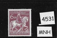 #4531  MNH Germany stamp / Oldenburg / Anton Gunther Horse 1945 WWII Third Reich