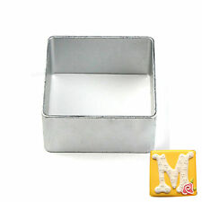 DIY Stainless Steel Square Cookie Cutter Biscuit Pastry Fondant Mold Cake Decor