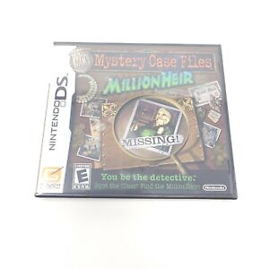Mystery Case Files: MillionHeir (Nintendo DS, 2008) DS NEW SEALED