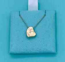 """Tiffany & Co. 18k Yellow Gold Full Heart Pendant Necklace EUC 16"""""""