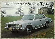 TOYOTA CROWN SUPER SALOON Car Sales Brochure April 1979 #00000-090156-BR
