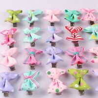 40x Baby Girls Kids Children Toddler Mini Flowers Hair Clips Bow Hairpin new Hot