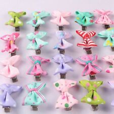40x Baby Girls Kids Children Toddler Mini Flowers Hair Clips Bow Hairpin new
