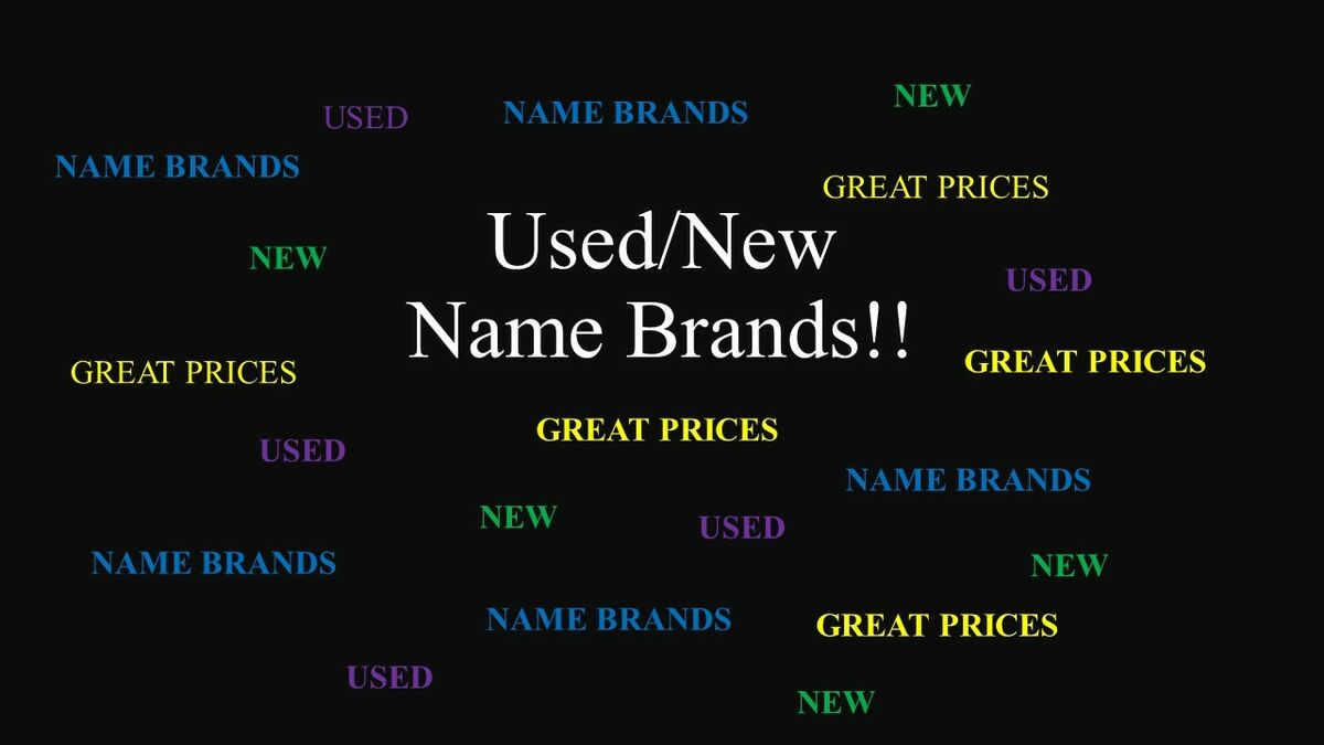 The New and Used Name Brands