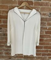 NEXT WOMENS WHITE BLOUSE WITH BLACK EDGING SIZE: 14 BNWT RRP £20