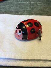 K Brand Tin Wind Up Ladybug Toy