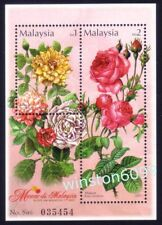 2003 Malaysia Flowers Roses, Miniature Sheet Stamps Mint Not Hinged