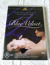 BLUE VELVET– DVD, REGION-4, LIKE NEW, FREE SHIPPING WITHIN AUSTRALIA