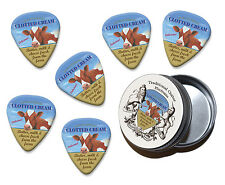 Clotted Cream Cow Martin Wiscombe 6 X Guitar Picks In Tin Vintage Retro