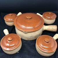 Vintage Red Wing Pottery Provincial Set Ware # 22 (Qty4) 11 (Qty1) clay Crocks