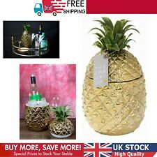 More details for ice bucket gold pineapple with lid premium addition to your drinks trolley