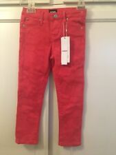 NWT HUDSON KIDS HUNTING RED PANTS SKINNY JEANS TODDLER GIRLS 4T NEW