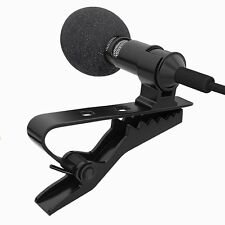 3.5mm Mini Studio Speech Microphone Mic Clip On Lapel for PC Desktop Notebook