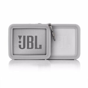 For Case JBL GO 2 Bluetooth Speaker Silicone Portable Protect Storage+Metal Hook