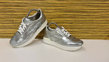 HOGAN Sneaker Schuhe Leder Gr. 6 = 39 Silber metallic
