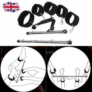UK Lockable Bondage Hand Spreader Bar Wrist Ankle Cuff Play Restraints Adult Toy