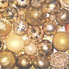 2 Serviettes en papier Boules de Noël Paper Napkins Christmas Decoration