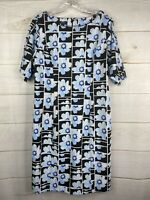 NWT Alfani Women's Plus Sz 16W Blue Floral Print Shift Dress NWT