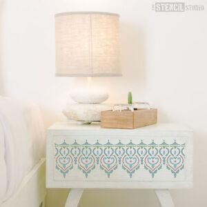 Adoor Indian Border Decorating STENCIL for Walls, Furniture, Fabric, DIY, Crafts