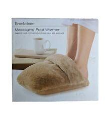 Brookstone Massaging Foot Warmer - Soothing Heat Massage N-A-P Soft Material