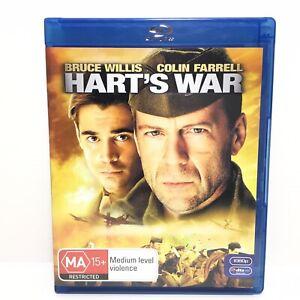 Harts War Blu-ray Region B, Like New (Bruce Willis) - Free Post