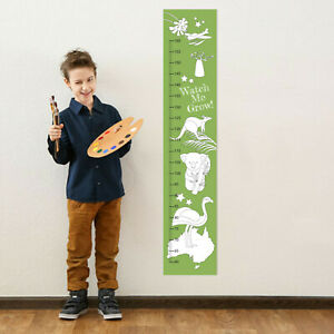 Australia Aussie Animals Colour In Personalised Growth Measuring Height Chart