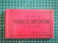 CPA - Carnet 10 cartes détachables - Calvaire de Pont - Château monuments 1950