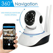 Wireless 1080P Panoramic Pan Tilt Security IP WIFI Network Camera Monitor Webcam