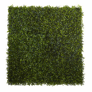 "Boxwood Mat Artificial Plant Home Decoration Nearly Natural 12"" X 10"" Set of 12"