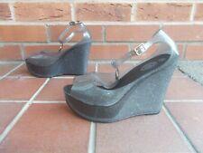 Sexis Zapatos de cuña con plataforma de goma gris Gummi s5 * Fetiche Gótico Dominatriz * * Nuevo