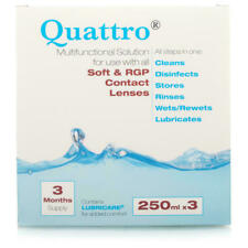 Quattro Multifunctional Contact Lens Solution 3 Month Pack Lubricare bnwt