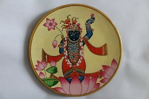 Pichwai Painting shrinathji wall decor wooden plates hand painted pichvai style