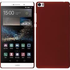 Funda Rígida Huawei P8max - goma rojo + protector de pantalla