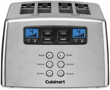 Cuisinart Bread Toaster 4 Slices Stainless Dual Control Panels Countdown Timer